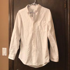 GEORGE White Button-Down Shirt